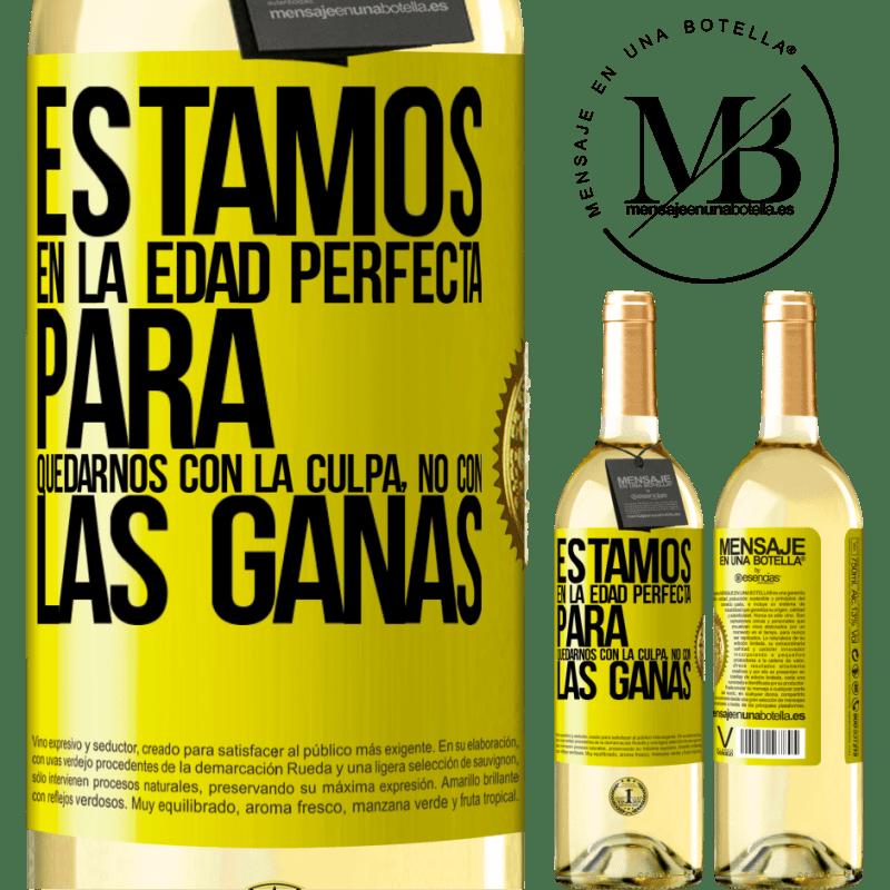 24,95 € Envoi gratuit   Vin blanc Édition WHITE Nous sommes dans l'âge parfait pour garder le blâme, pas le désir Étiquette Jaune. Étiquette personnalisable Vin jeune Récolte 2020 Verdejo