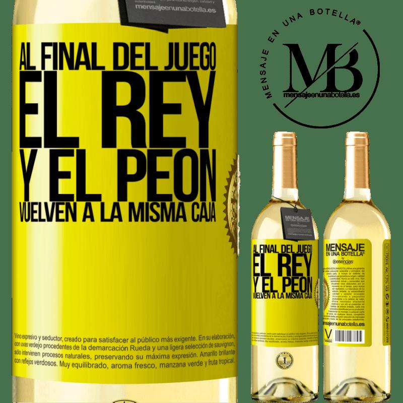 24,95 € Envoi gratuit   Vin blanc Édition WHITE A la fin de la partie, le roi et le pion retournent dans la même case Étiquette Jaune. Étiquette personnalisable Vin jeune Récolte 2020 Verdejo