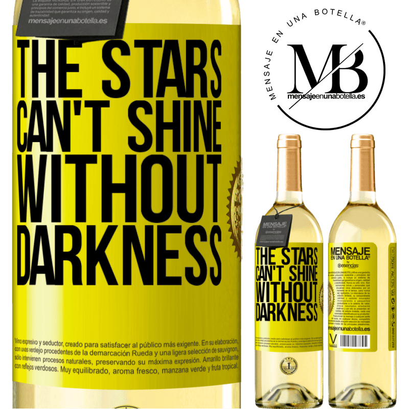 24,95 € Free Shipping   White Wine WHITE Edition The stars can't shine without darkness Yellow Label. Customizable label Young wine Harvest 2020 Verdejo