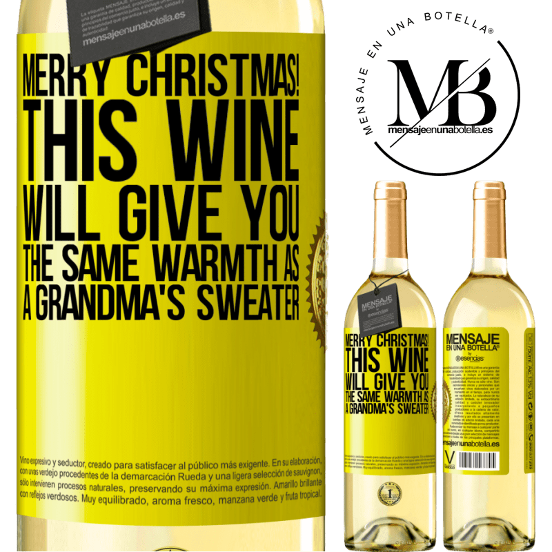 24,95 € Free Shipping | White Wine WHITE Edition Merry Christmas! This wine will give you the same warmth as a grandma's sweater Yellow Label. Customizable label Young wine Harvest 2020 Verdejo