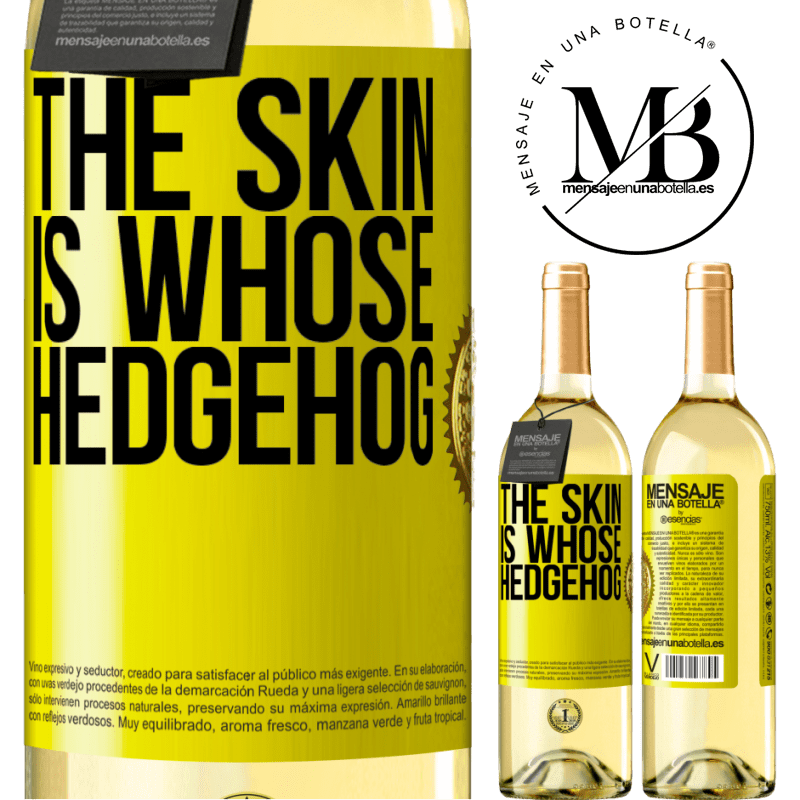 24,95 € Free Shipping | White Wine WHITE Edition The skin is whose hedgehog Yellow Label. Customizable label Young wine Harvest 2020 Verdejo