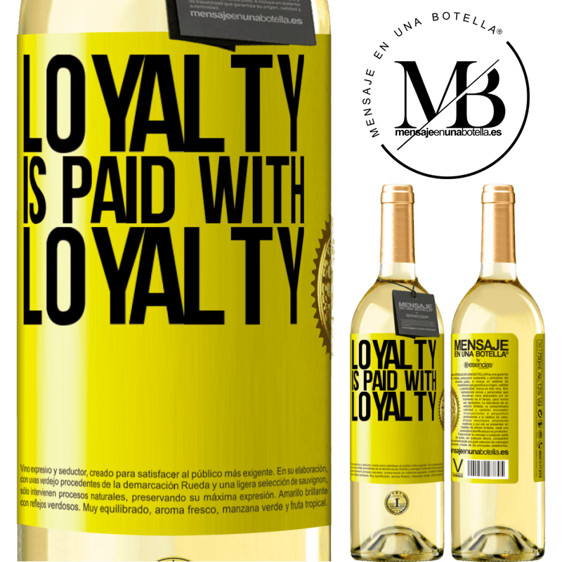 24,95 € Free Shipping | White Wine WHITE Edition Loyalty is paid with loyalty Yellow Label. Customizable label Young wine Harvest 2020 Verdejo