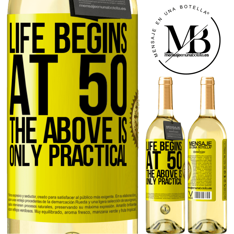24,95 € Free Shipping   White Wine WHITE Edition Life begins at 50, the above is only practical Yellow Label. Customizable label Young wine Harvest 2020 Verdejo