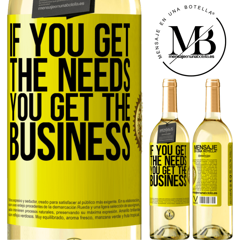 24,95 € Free Shipping | White Wine WHITE Edition If you get the needs, you get the business Yellow Label. Customizable label Young wine Harvest 2020 Verdejo