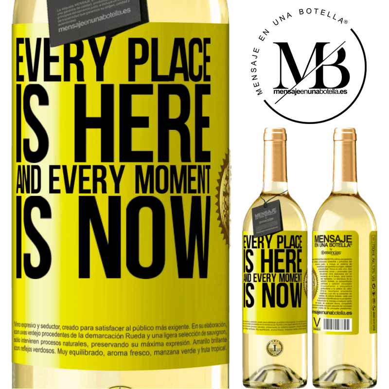 24,95 € Free Shipping | White Wine WHITE Edition Every place is here and every moment is now Yellow Label. Customizable label Young wine Harvest 2020 Verdejo