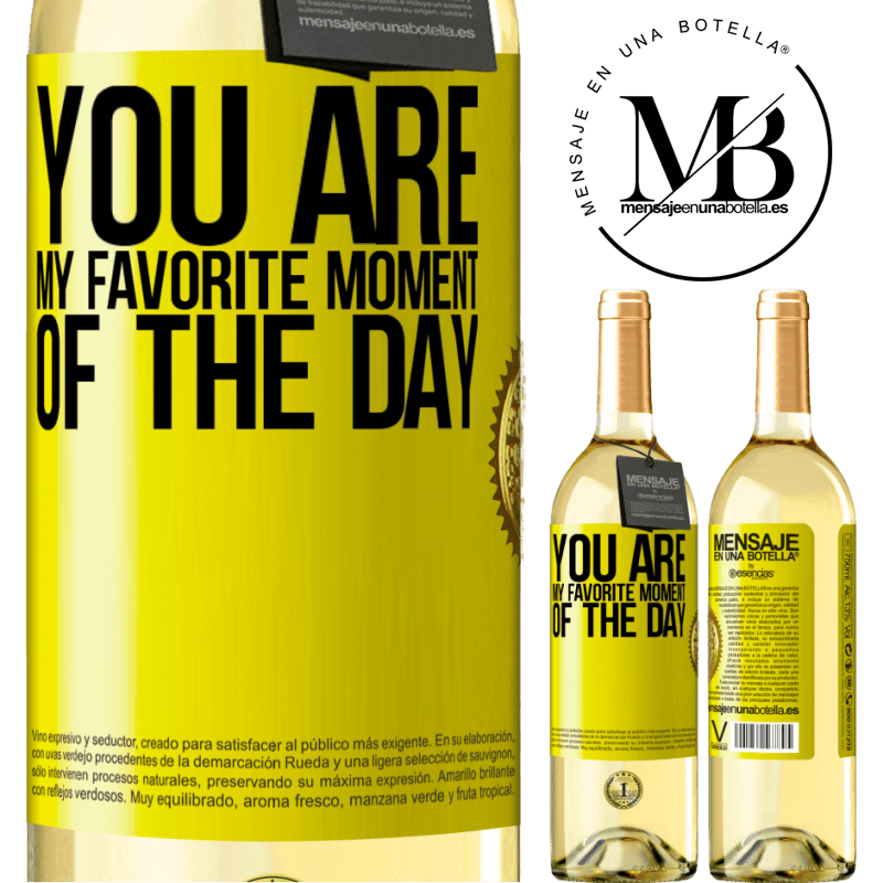 24,95 € Free Shipping | White Wine WHITE Edition You are my favorite moment of the day Yellow Label. Customizable label Young wine Harvest 2020 Verdejo