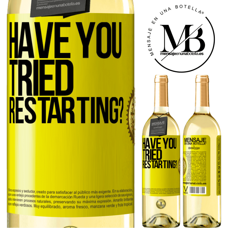24,95 € Free Shipping   White Wine WHITE Edition have you tried restarting? Yellow Label. Customizable label Young wine Harvest 2020 Verdejo