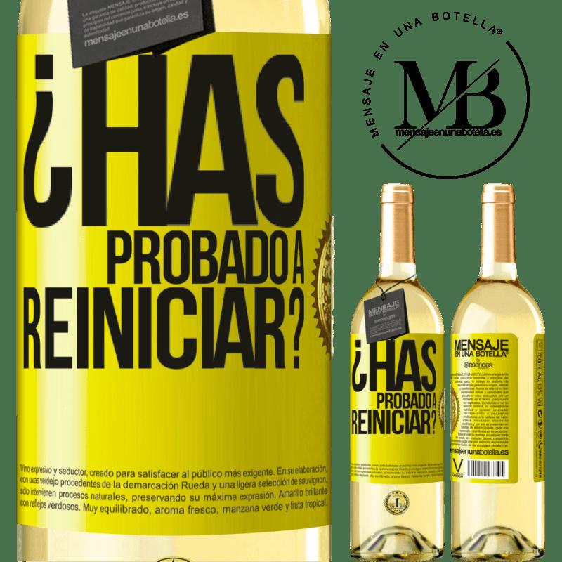 24,95 € Envoi gratuit | Vin blanc Édition WHITE avez-vous essayé de redémarrer? Étiquette Jaune. Étiquette personnalisable Vin jeune Récolte 2020 Verdejo