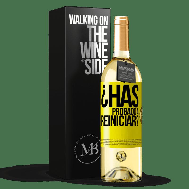 24,95 € Envoi gratuit   Vin blanc Édition WHITE avez-vous essayé de redémarrer? Étiquette Jaune. Étiquette personnalisable Vin jeune Récolte 2020 Verdejo