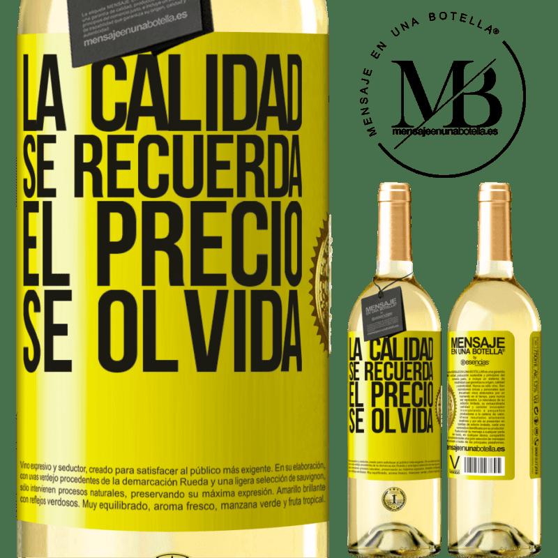 24,95 € Envoi gratuit | Vin blanc Édition WHITE La qualité est mémorisée, le prix est oublié Étiquette Jaune. Étiquette personnalisable Vin jeune Récolte 2020 Verdejo