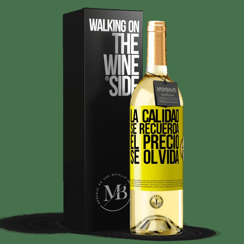24,95 € Envoi gratuit   Vin blanc Édition WHITE La qualité est mémorisée, le prix est oublié Étiquette Jaune. Étiquette personnalisable Vin jeune Récolte 2020 Verdejo