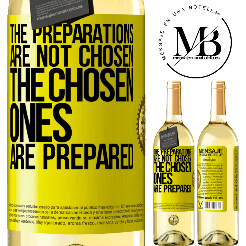24,95 € Free Shipping | White Wine WHITE Edition The preparations are not chosen, the chosen ones are prepared Yellow Label. Customizable label Young wine Harvest 2020 Verdejo
