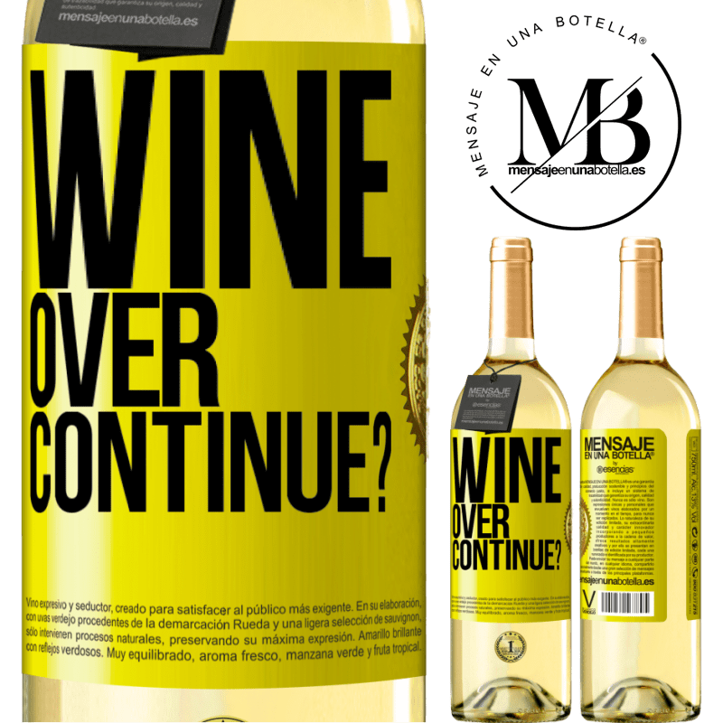24,95 € Free Shipping | White Wine WHITE Edition Wine over. Continue? Yellow Label. Customizable label Young wine Harvest 2020 Verdejo