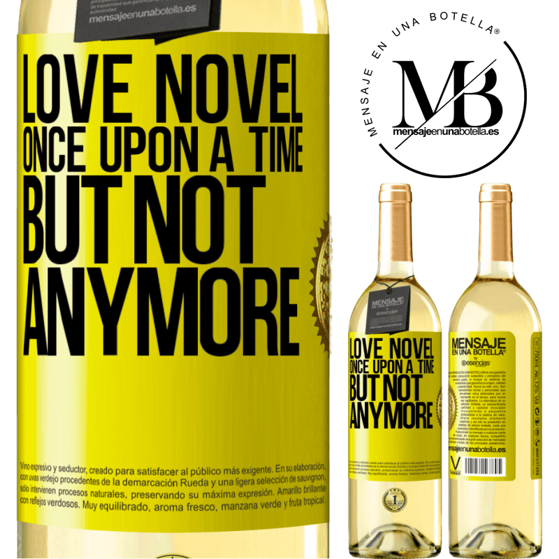 24,95 € Free Shipping | White Wine WHITE Edition Love novel. Once upon a time, but not anymore Yellow Label. Customizable label Young wine Harvest 2020 Verdejo