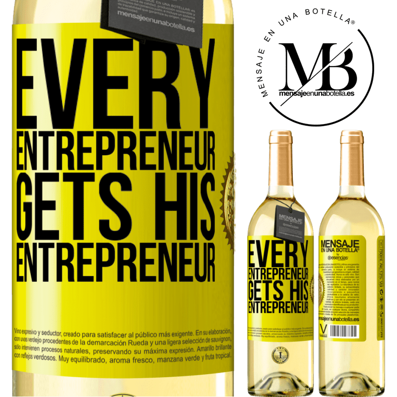24,95 € Free Shipping | White Wine WHITE Edition Every entrepreneur gets his entrepreneur Yellow Label. Customizable label Young wine Harvest 2020 Verdejo