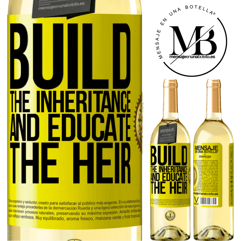 24,95 € Free Shipping | White Wine WHITE Edition Build the inheritance and educate the heir Yellow Label. Customizable label Young wine Harvest 2020 Verdejo
