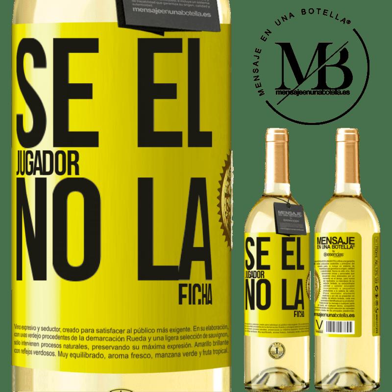 24,95 € Envío gratis   Vino Blanco Edición WHITE Se el jugador, no la ficha Etiqueta Amarilla. Etiqueta personalizable Vino joven Cosecha 2020 Verdejo