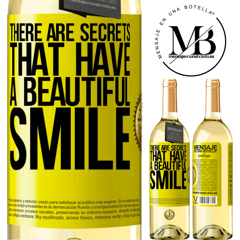 24,95 € Free Shipping | White Wine WHITE Edition There are secrets that have a beautiful smile Yellow Label. Customizable label Young wine Harvest 2020 Verdejo