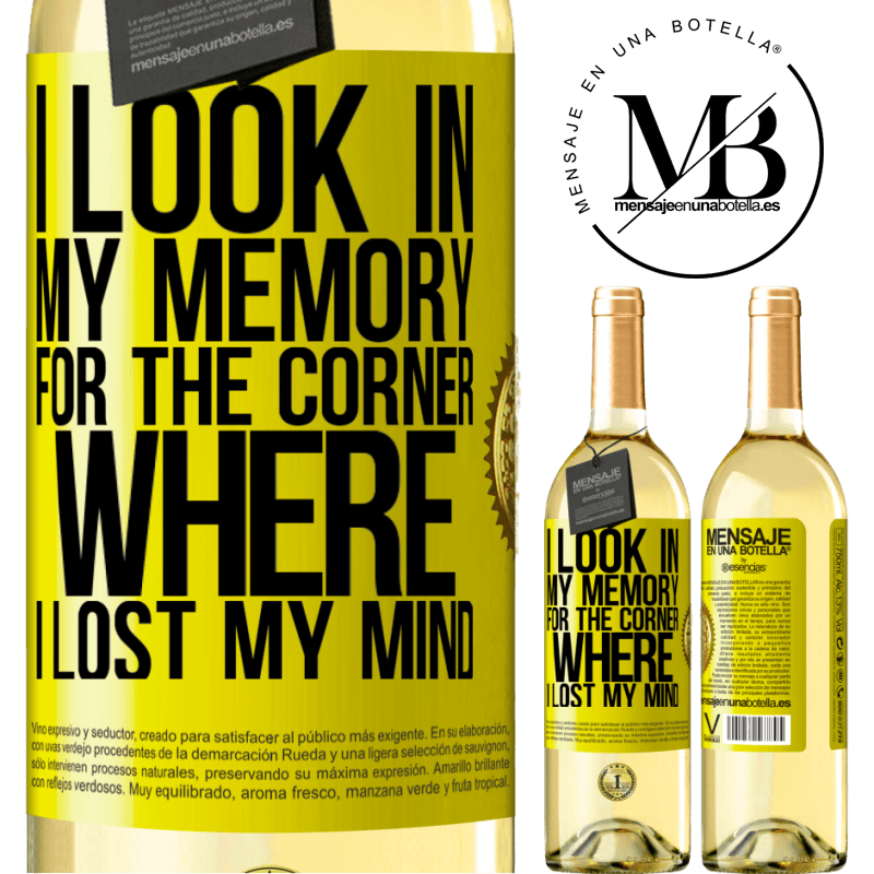 24,95 € Free Shipping   White Wine WHITE Edition I look in my memory for the corner where I lost my mind Yellow Label. Customizable label Young wine Harvest 2020 Verdejo