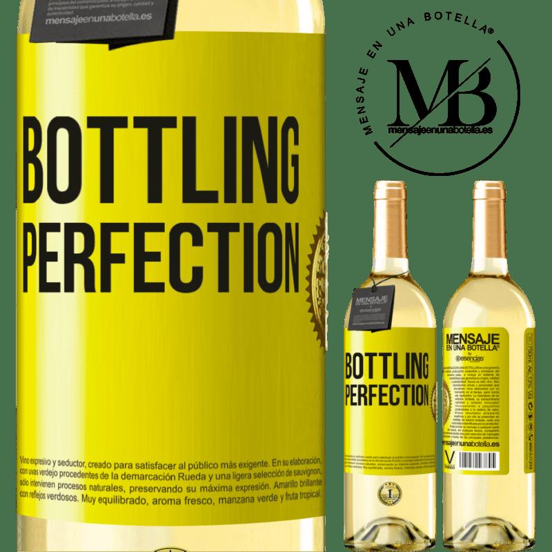 24,95 € Envío gratis | Vino Blanco Edición WHITE Bottling perfection Etiqueta Amarilla. Etiqueta personalizable Vino joven Cosecha 2020 Verdejo