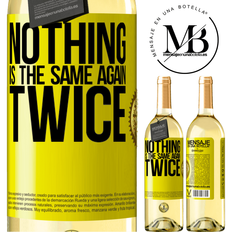 24,95 € Free Shipping | White Wine WHITE Edition Nothing is the same again twice Yellow Label. Customizable label Young wine Harvest 2020 Verdejo