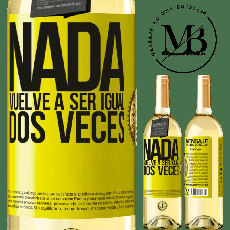 24,95 € Envío gratis   Vino Blanco Edición WHITE Nada vuelve a ser igual dos veces Etiqueta Amarilla. Etiqueta personalizable Vino joven Cosecha 2020 Verdejo