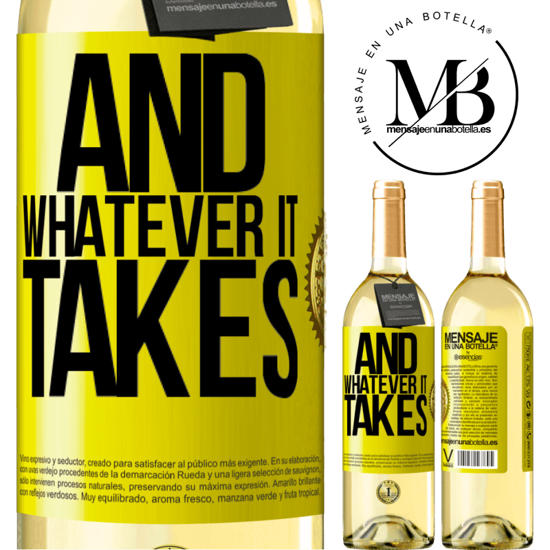 24,95 € Free Shipping   White Wine WHITE Edition And whatever it takes Yellow Label. Customizable label Young wine Harvest 2020 Verdejo