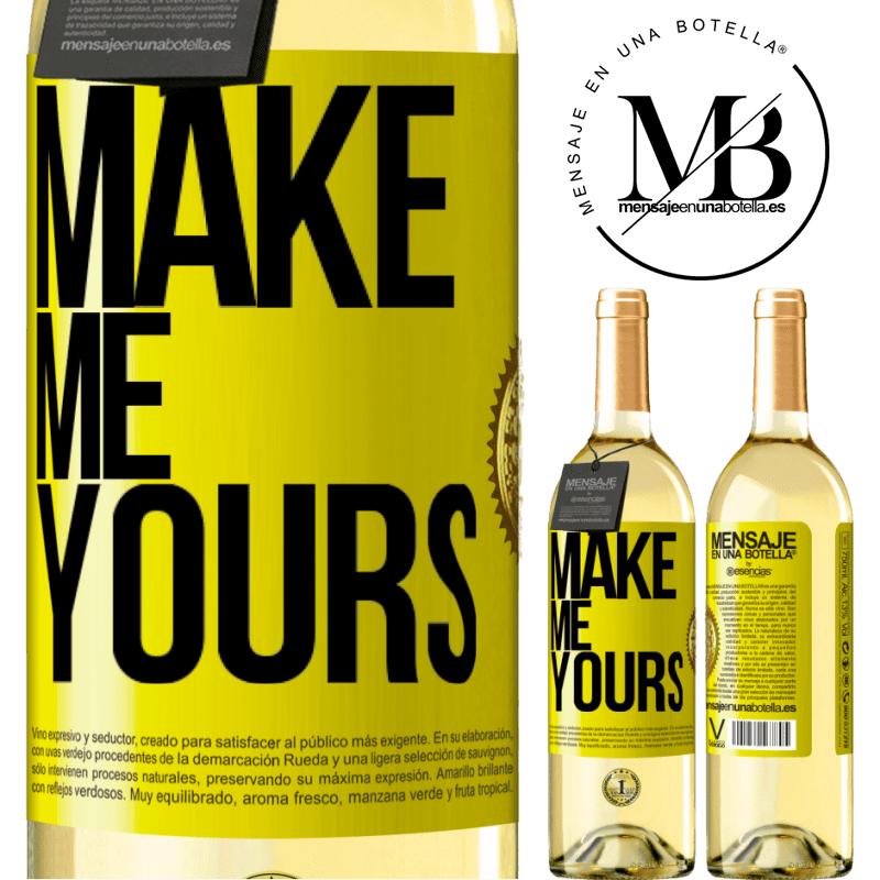 24,95 € Free Shipping | White Wine WHITE Edition Make me yours Yellow Label. Customizable label Young wine Harvest 2020 Verdejo
