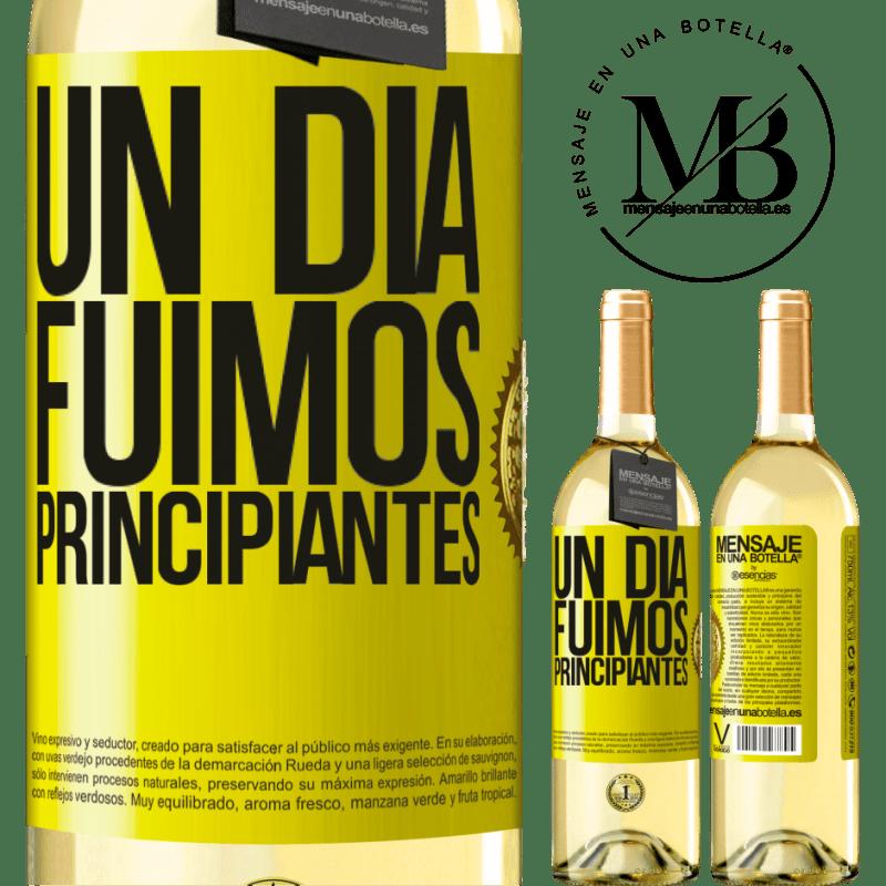 24,95 € Envoi gratuit   Vin blanc Édition WHITE Un jour, nous étions débutants Étiquette Jaune. Étiquette personnalisable Vin jeune Récolte 2020 Verdejo