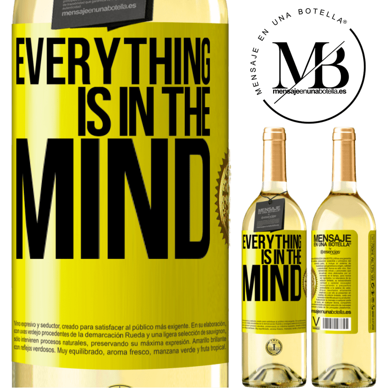 24,95 € Free Shipping | White Wine WHITE Edition Everything is in the mind Yellow Label. Customizable label Young wine Harvest 2020 Verdejo