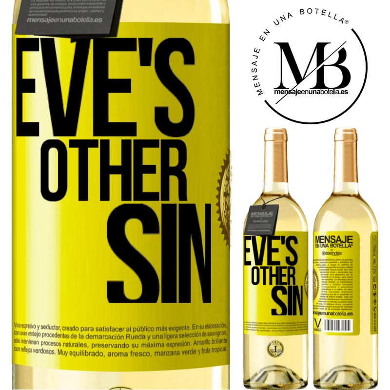 24,95 € Free Shipping | White Wine WHITE Edition Eve's other sin Yellow Label. Customizable label Young wine Harvest 2020 Verdejo