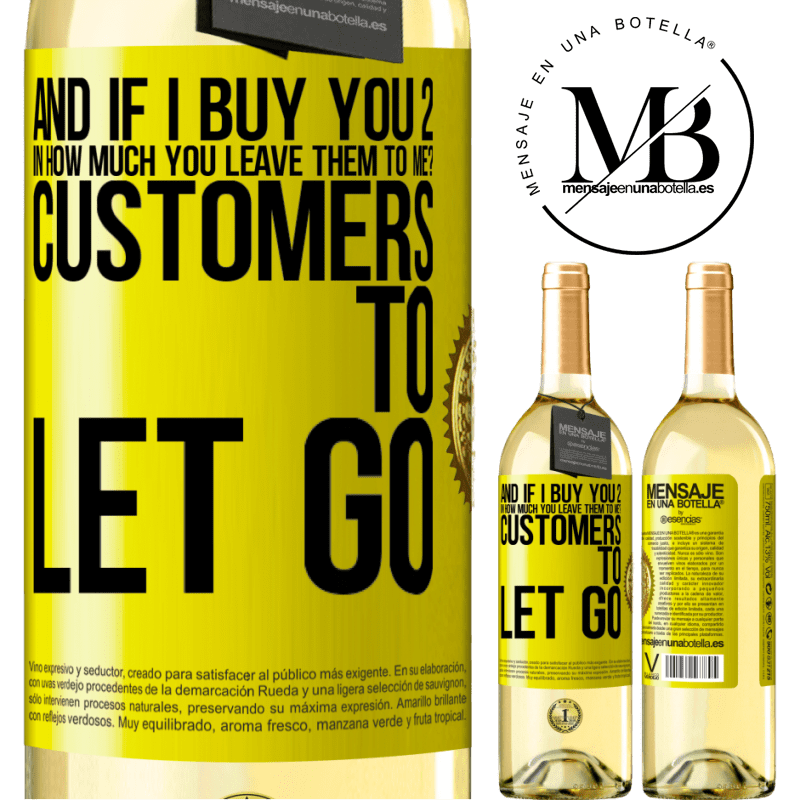 24,95 € Free Shipping   White Wine WHITE Edition and if I buy you 2 in how much you leave them to me? Customers to let go Yellow Label. Customizable label Young wine Harvest 2020 Verdejo