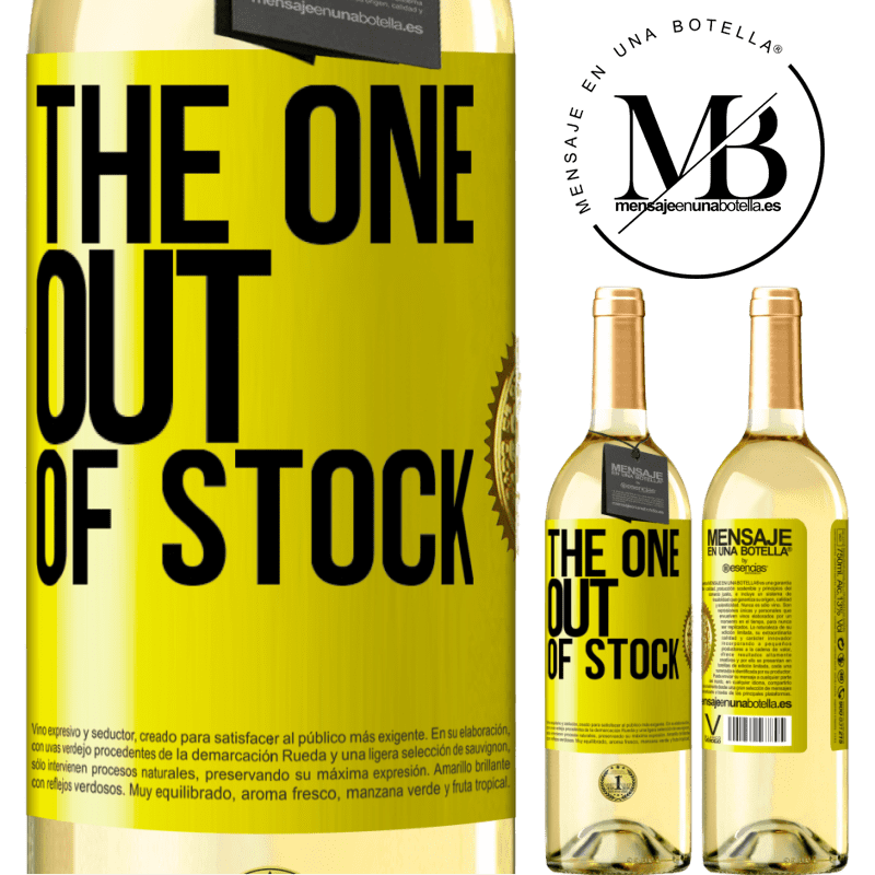 24,95 € Free Shipping   White Wine WHITE Edition The one out of stock Yellow Label. Customizable label Young wine Harvest 2020 Verdejo