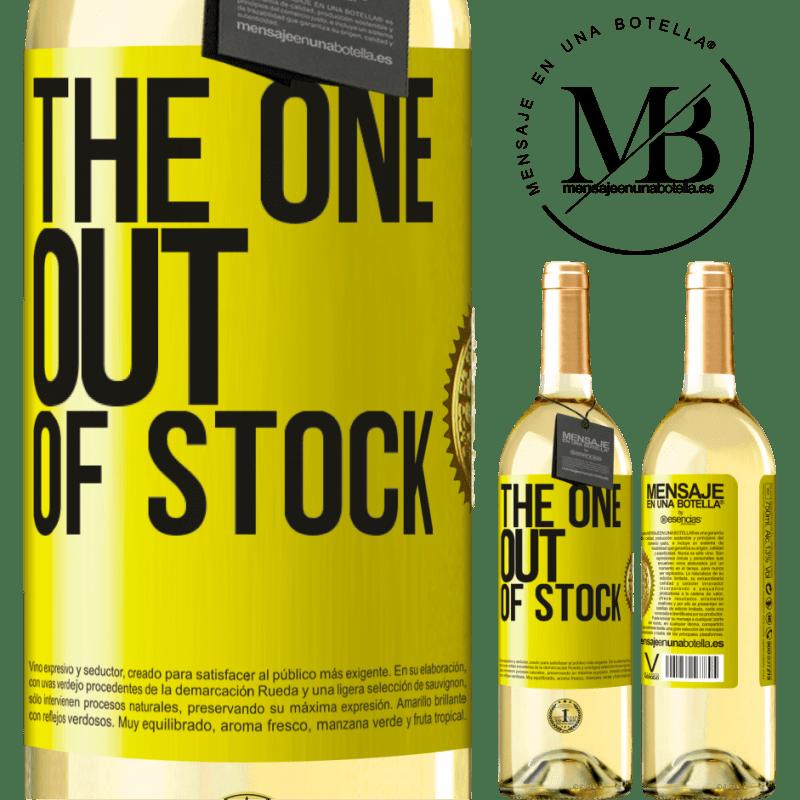 24,95 € Envío gratis | Vino Blanco Edición WHITE The one out of stock Etiqueta Amarilla. Etiqueta personalizable Vino joven Cosecha 2020 Verdejo
