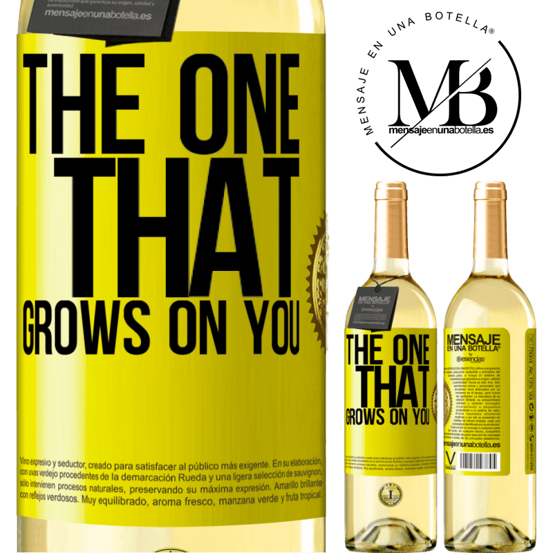 24,95 € Free Shipping | White Wine WHITE Edition The one that grows on you Yellow Label. Customizable label Young wine Harvest 2020 Verdejo