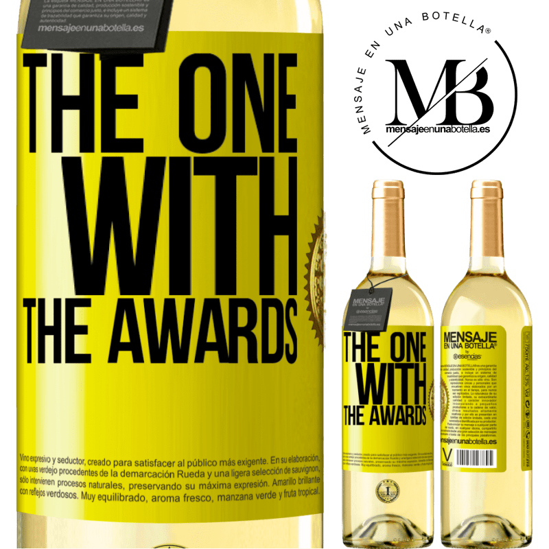 24,95 € Free Shipping | White Wine WHITE Edition The one with the awards Yellow Label. Customizable label Young wine Harvest 2020 Verdejo