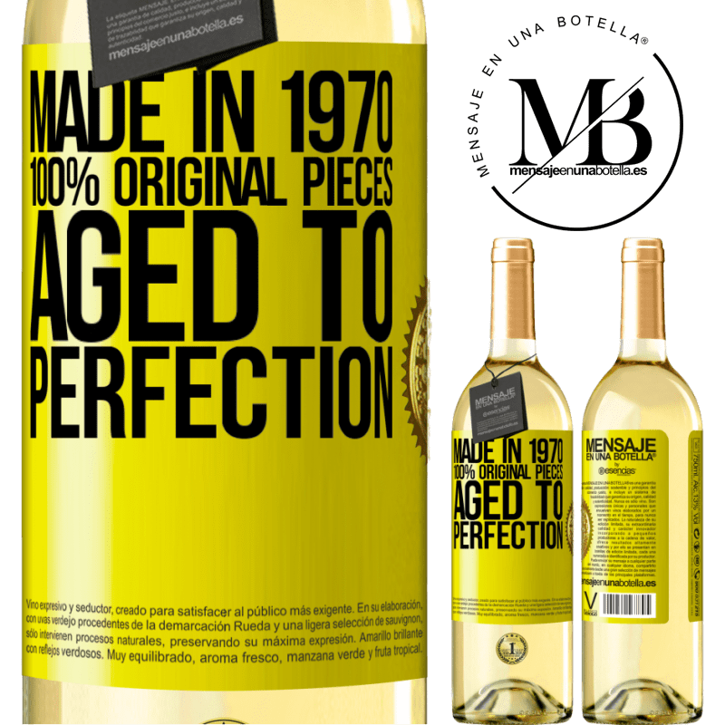24,95 € Free Shipping | White Wine WHITE Edition Made in 1970, 100% original pieces. Aged to perfection Yellow Label. Customizable label Young wine Harvest 2020 Verdejo