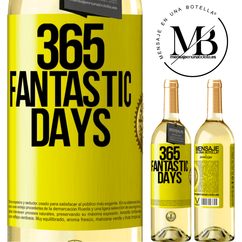 24,95 € Free Shipping   White Wine WHITE Edition 365 fantastic days Yellow Label. Customizable label Young wine Harvest 2020 Verdejo