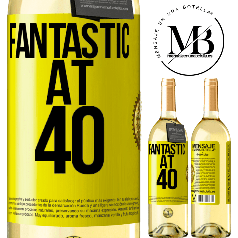 24,95 € Free Shipping   White Wine WHITE Edition Fantastic at 40 Yellow Label. Customizable label Young wine Harvest 2020 Verdejo