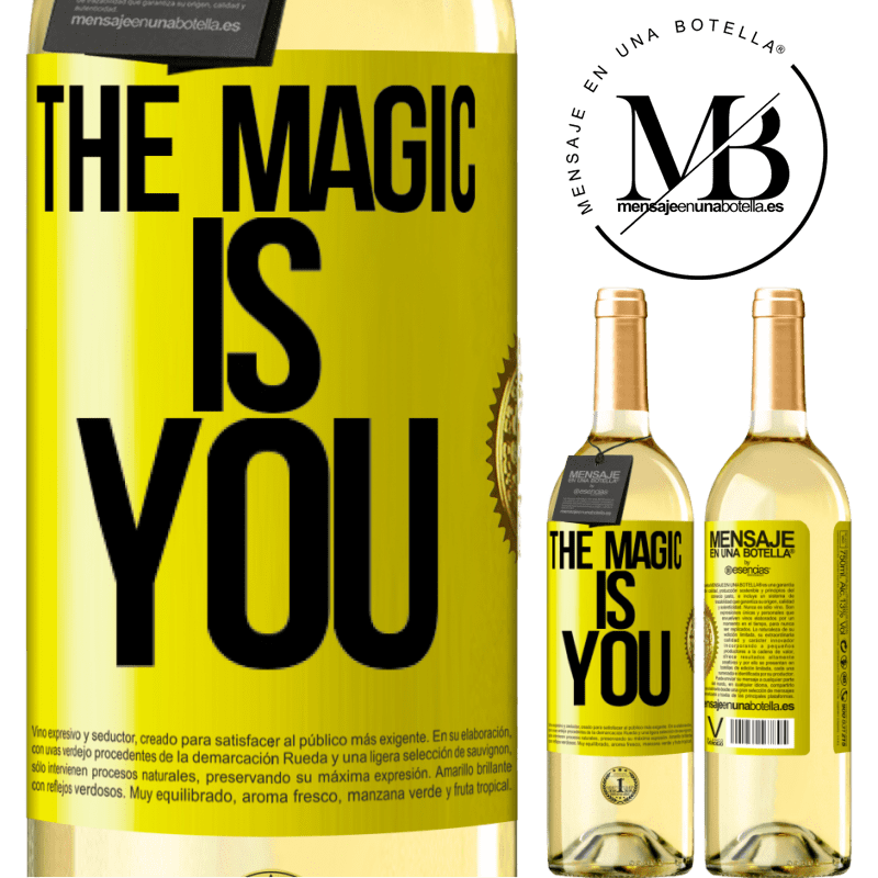24,95 € Free Shipping   White Wine WHITE Edition The magic is you Yellow Label. Customizable label Young wine Harvest 2020 Verdejo