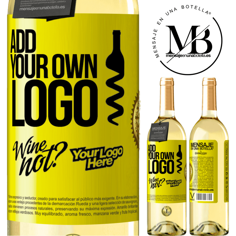 24,95 € Free Shipping | White Wine WHITE Edition Add your own logo Yellow Label. Customizable label Young wine Harvest 2020 Verdejo