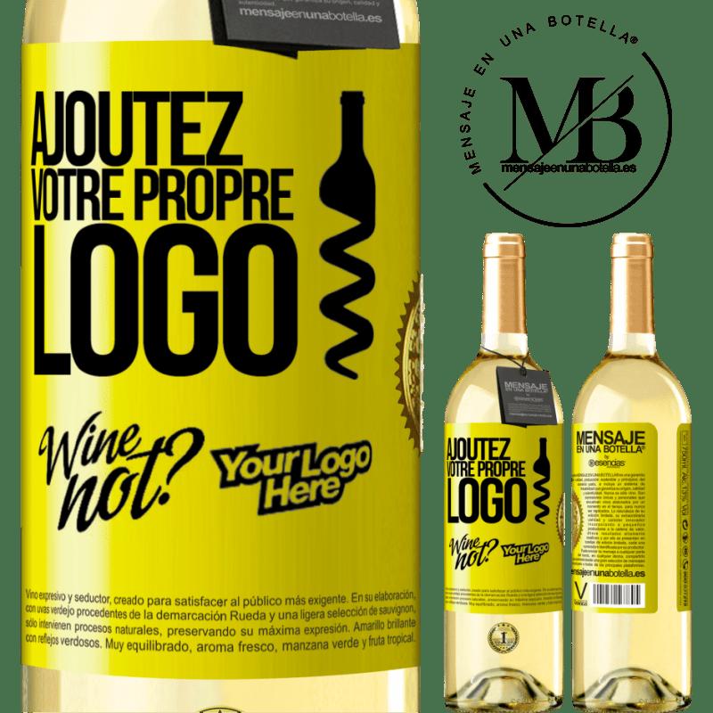 24,95 € Envoi gratuit | Vin blanc Édition WHITE Ajoutez votre propre logo Étiquette Jaune. Étiquette personnalisable Vin jeune Récolte 2020 Verdejo