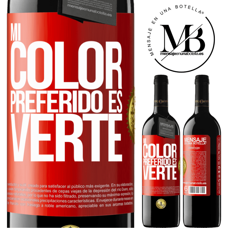 24,95 € Free Shipping   Red Wine RED Edition Crianza 6 Months Mi color preferido es: verte Red Label. Customizable label Aging in oak barrels 6 Months Harvest 2018 Tempranillo