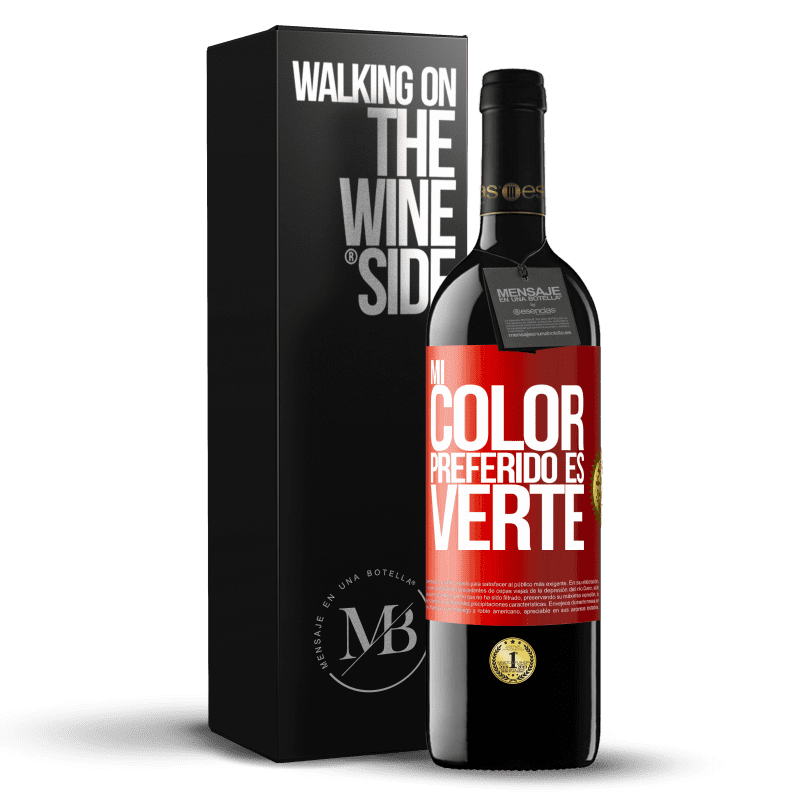 24,95 € Free Shipping | Red Wine RED Edition Crianza 6 Months Mi color preferido es: verte Red Label. Customizable label Aging in oak barrels 6 Months Harvest 2018 Tempranillo