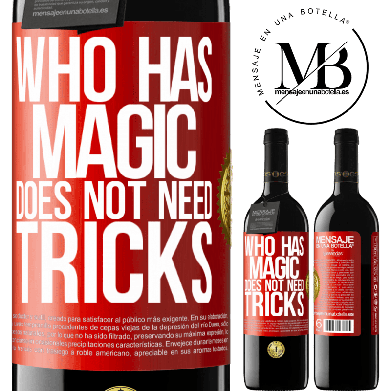 24,95 € Free Shipping | Red Wine RED Edition Crianza 6 Months Who has magic does not need tricks Red Label. Customizable label Aging in oak barrels 6 Months Harvest 2018 Tempranillo