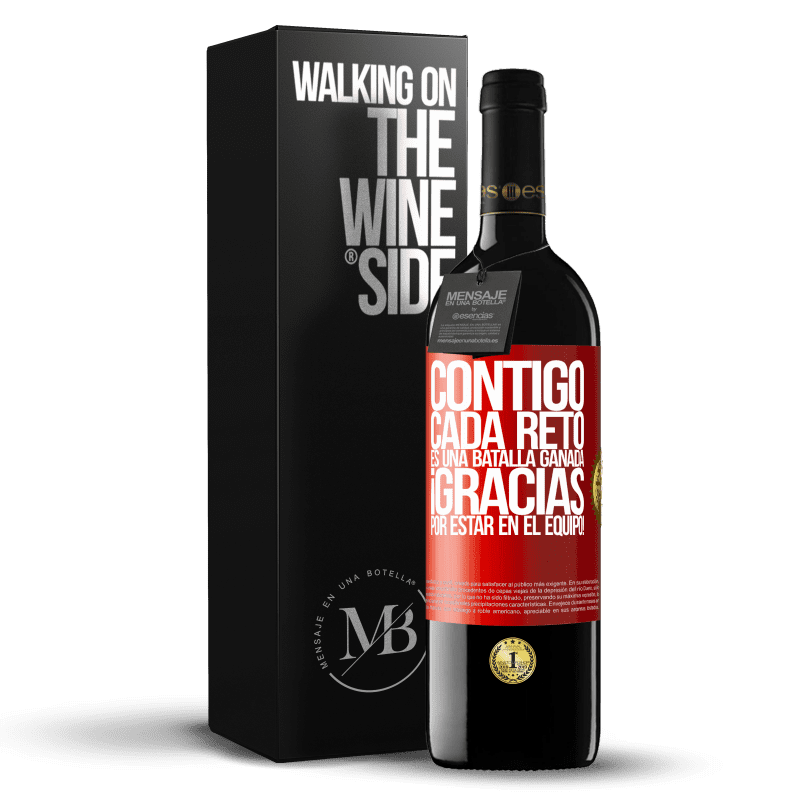 24,95 € Envoi gratuit | Vin rouge Édition RED Crianza 6 Mois Avec vous, chaque défi est une bataille gagnée. Merci d'être dans l'équipe! Étiquette Rouge. Étiquette personnalisable Vieillissement en fûts de chêne 6 Mois Récolte 2018 Tempranillo