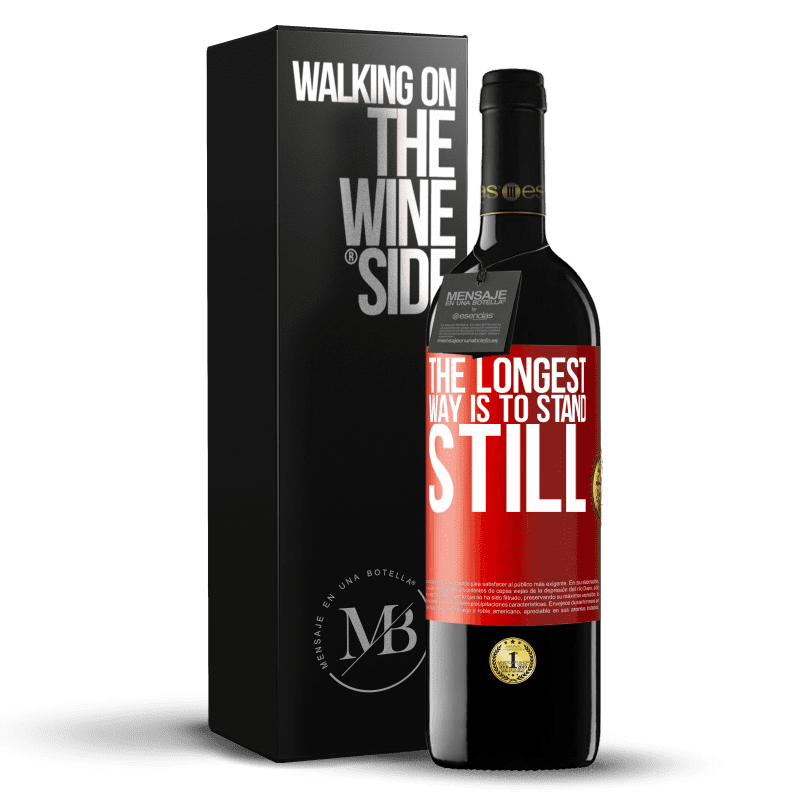 24,95 € Free Shipping | Red Wine RED Edition Crianza 6 Months The longest way is to stand still Red Label. Customizable label Aging in oak barrels 6 Months Harvest 2018 Tempranillo