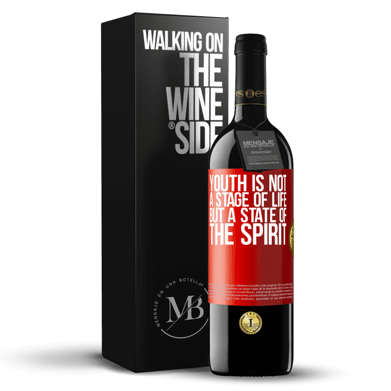 24,95 € Free Shipping   Red Wine RED Edition Crianza 6 Months Youth is not a stage of life, but a state of the spirit Red Label. Customizable label Aging in oak barrels 6 Months Harvest 2018 Tempranillo