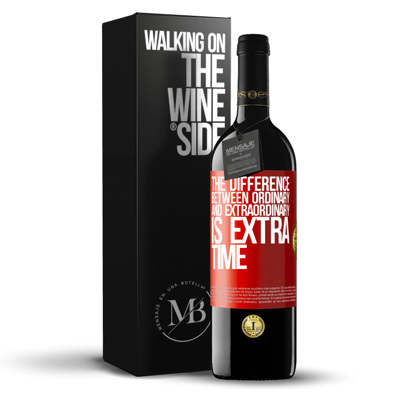 24,95 € Free Shipping | Red Wine RED Edition Crianza 6 Months The difference between ordinary and extraordinary is EXTRA time Red Label. Customizable label Aging in oak barrels 6 Months Harvest 2018 Tempranillo