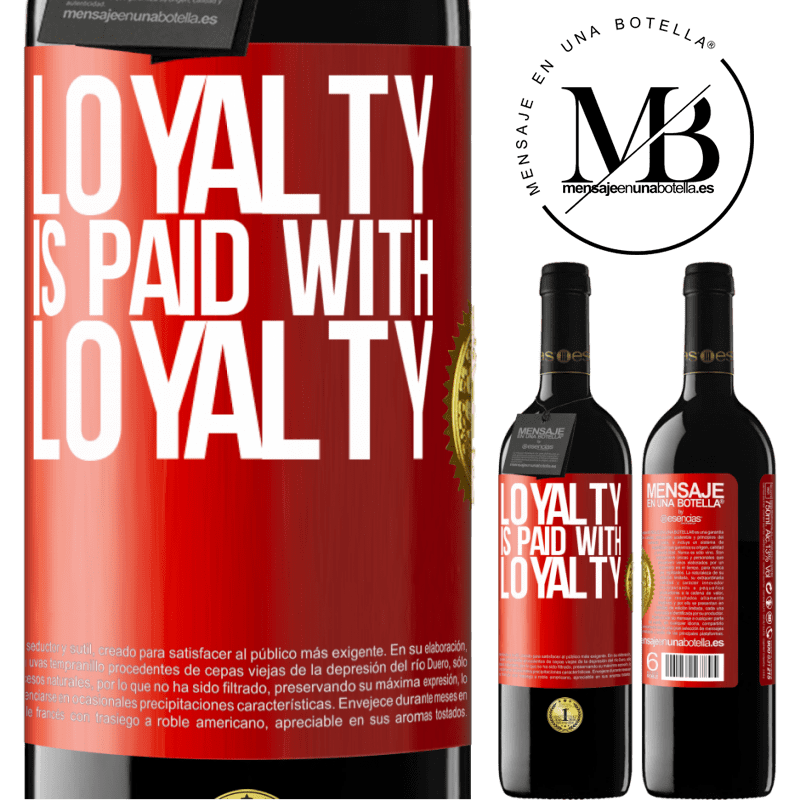 24,95 € Free Shipping   Red Wine RED Edition Crianza 6 Months Loyalty is paid with loyalty Red Label. Customizable label Aging in oak barrels 6 Months Harvest 2018 Tempranillo